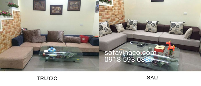Bọc ghế sofa tại đường Lạc Long Quân