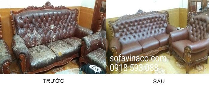 Bọc lại ghế sofa tân cổ điển tại Thái Thịnh - Đống Đa