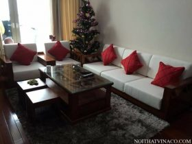 Làm đệm ghế bằng vải nỉ tại Hà Nội