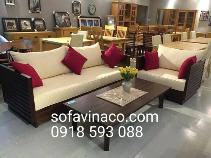 Làm đệm ghế sofa gỗ vải nỉ tại Hà Nội