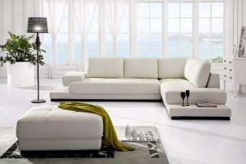 Sofa da màu trắng – Lịch lãm, sang trọng và hiện đại