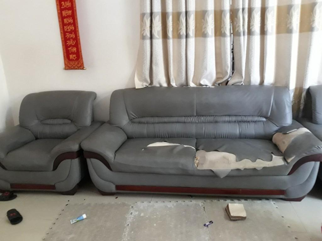 Bộ ghế sofa bị rách tại Đồng Tháp