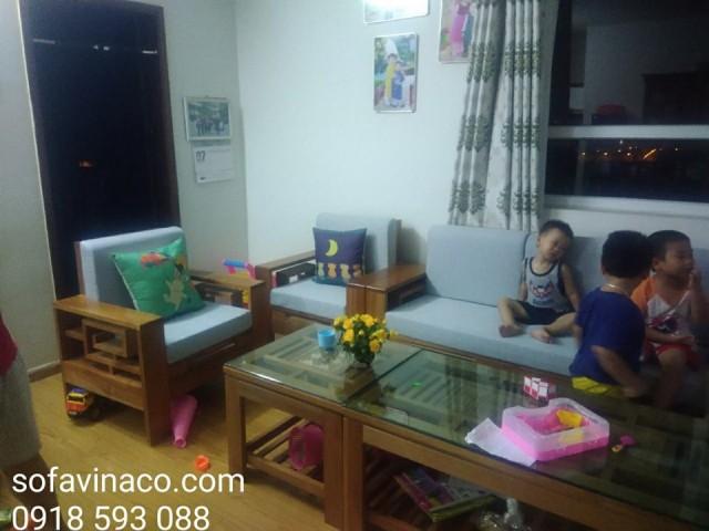 Bộ đệm ghế tại nhà chị Hoa ở chung cư Dream Town, Từ Liêm