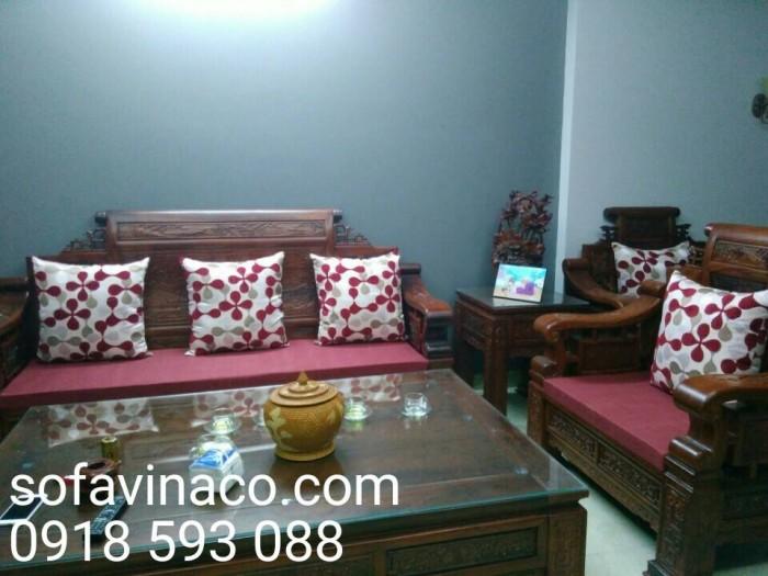 Bộ đệm ghế cho ghế sofa gỗ giả cổ