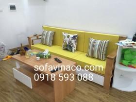 Làm đệm lót ghế cho bộ ghế sofa gỗ kiểu hiện đại