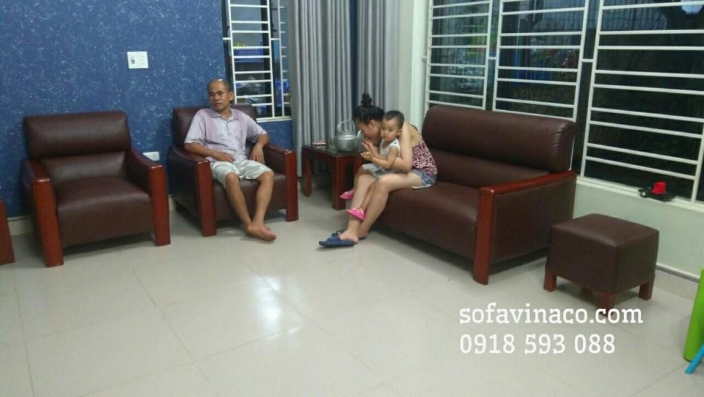 Bộ ghế sofa tại Sóc Sơn sau khi sử dụng dịch vụ bọc lại ghế sofa của Vinaco