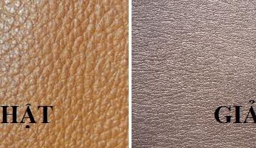 Cách phân biệt da thật da giả bọc ghế sofa