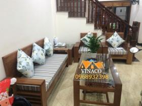 Bộ đệm ghế đã được hoàn thành cho gia đình tại Thịnh Liệt