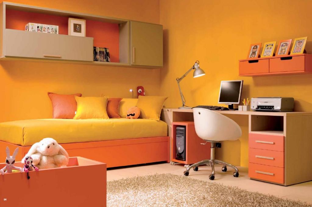 Màu cam khi phối vào phòng ngủ sẽ khiến bạn cảm thấy ấm áp hơn