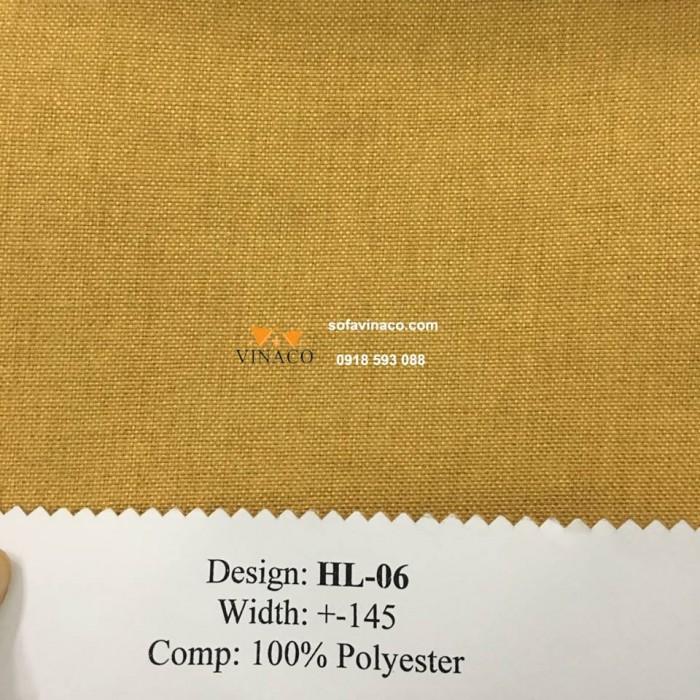 Mẫu vải màu vàng cam ấm áp