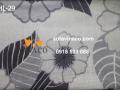 Vải hoa lá màu xám