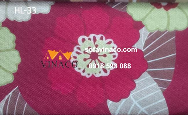 Mẫu vải hoa màu đỏ đô