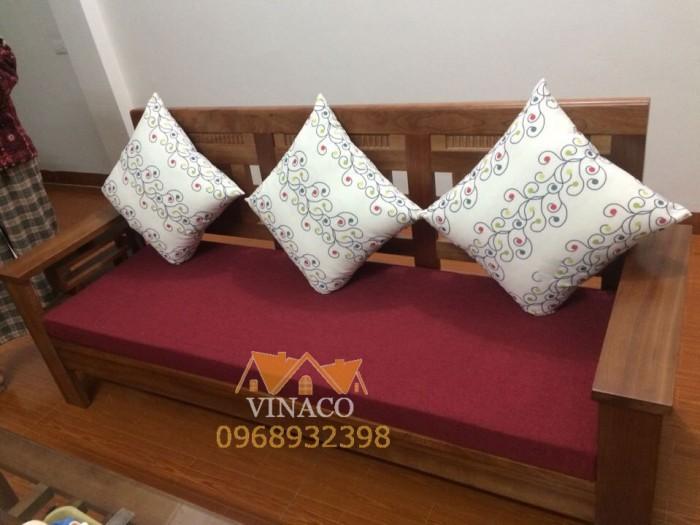 Bộ đệm ghế gỗ cho phòng khách trở lên đẹp hơn