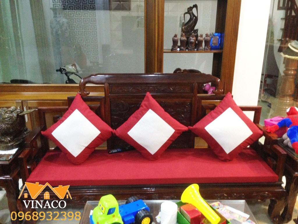 Bộ đệm có may trám tương tự như bộ ghế ở quận Nam Từ Liêm