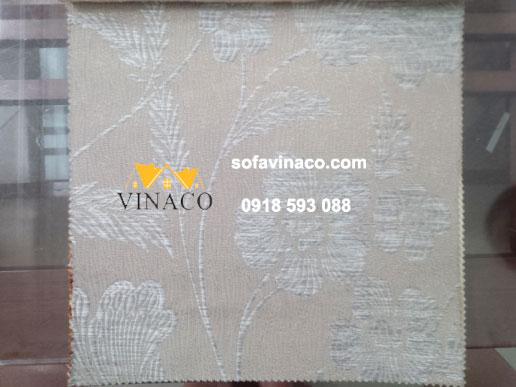 Mẫu vải thô thêu hoa lá màu bạc kiểu hiện đại