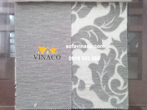 Mẫu vải trơn và hoa văn tân cổ cùng màu, có lông ngắn