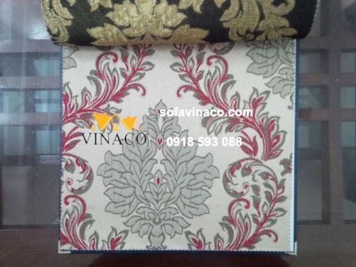 Mẫu vải hoa văn cổ điển cao cấp thêu nhiều màu
