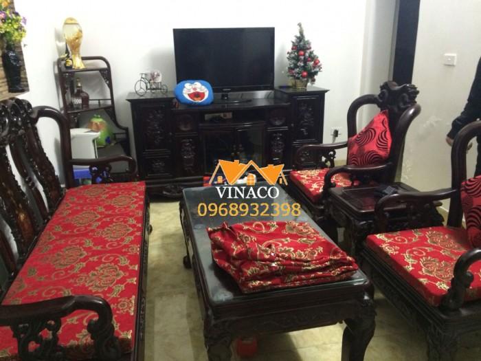 Mẫu đệm ghế hoa văn cổ điển đã hoàn thành cho khách hàng