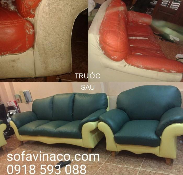Chiếc ghế sofa cũ để lâu sau khi đã bọc lại