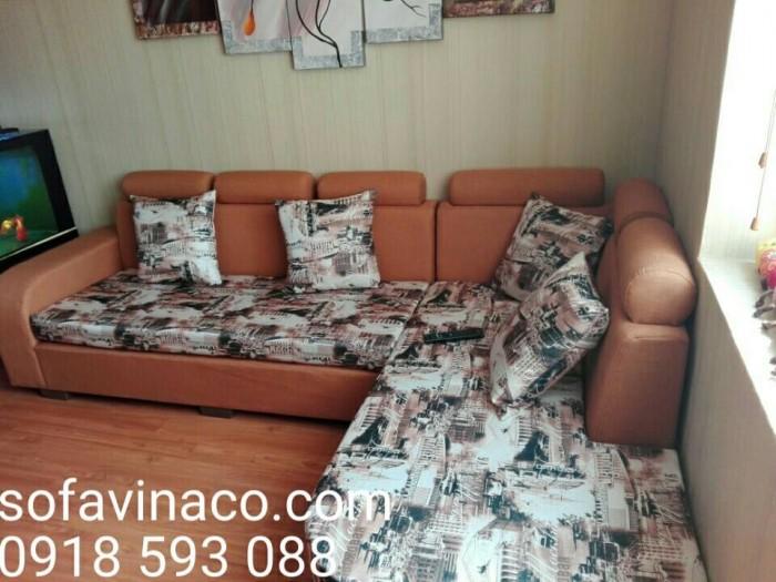 Bộ ghế đã được bọc lại nhờ dịch vụ bọc lại ghế sofa của Vinaco