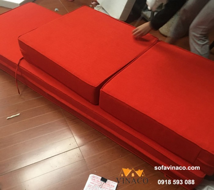 Bộ đệm ghế Grand bois cho khách hàng tại Sơn Tây đã hoàn thành