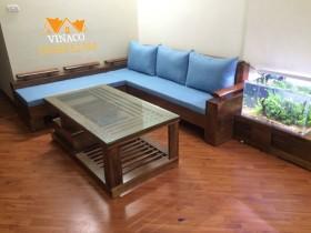 Bộ đệm ghế sofa L đã được hoàn thành cho khách