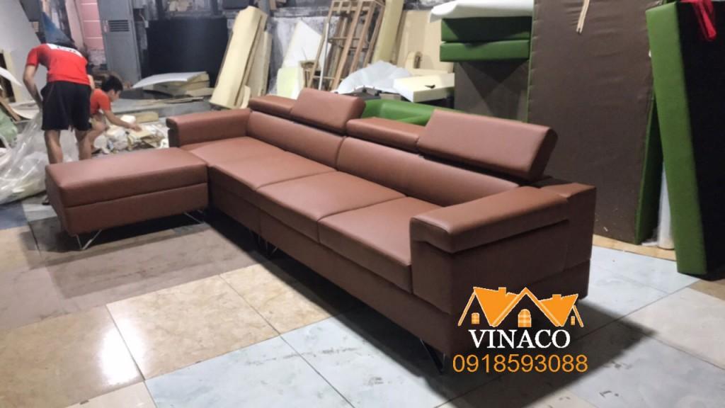 Có thể thấy bộ ghế sofa đóng mới này khá đẹp, có vuông có tròn