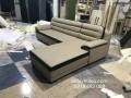 Bộ ghế sofa da L mới được đóng xong với kiểu dáng mới và lạ