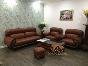 Bọc ghế sofa da cho ghế sofa vải cũ