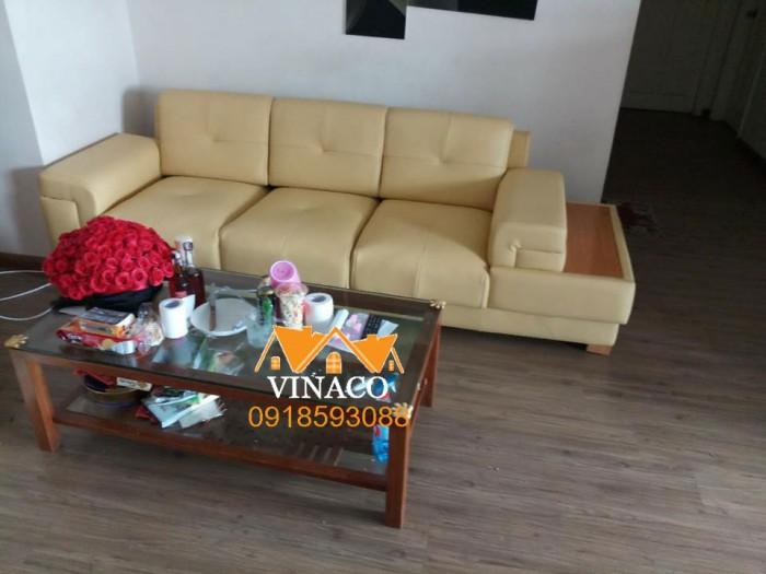 Bộ ghế sofa cũ nhờ dịch vụ bọc ghế sofa đã trở lên như mới