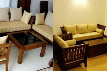 Mẹo hay tạo sự êm ái cho bộ sofa gỗ