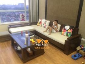 May vỏ đệm ghế sofa góc tại Văn Quán, Hà Đông