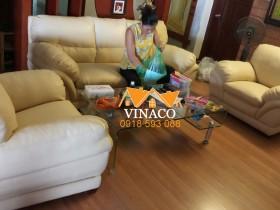Bọc ghế sofa đã hoàn tất cho gia đình anh Hải