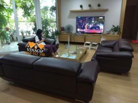 Bọc ghế sofa da tại 137 Xuân Thủy, Cầu Giấy