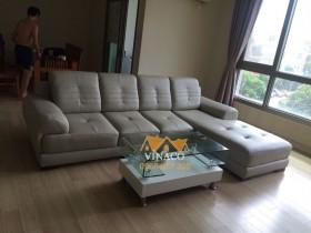 Bộ ghế sofa sau khi bọc xong đã hoàn toàn thay đổi