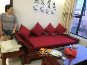 Bộ đệm ghế quý phi đã hoàn thành và giao đến tận nhà cho gia đình