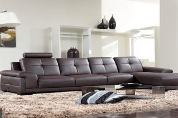 Bọc ghế sofa da giúp không gian phòng khách thêm ấn tượng