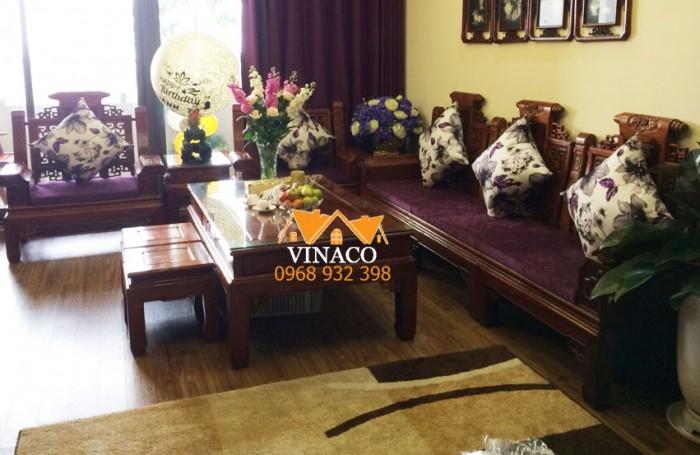 Bộ đệm ghế đã làm xong và giao cho gia đình ở Phú Diễn