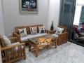 Bộ đệm ghế gỗ màu ghi sáng đã hoàn thành