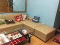 Khung và đệm ghế vẫn còn mới nên đã gọi Vinaco để bọc ghế sofa