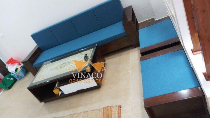 Bộ đệm ghế tại Hả Phòng với tông màu xang thanh lịch