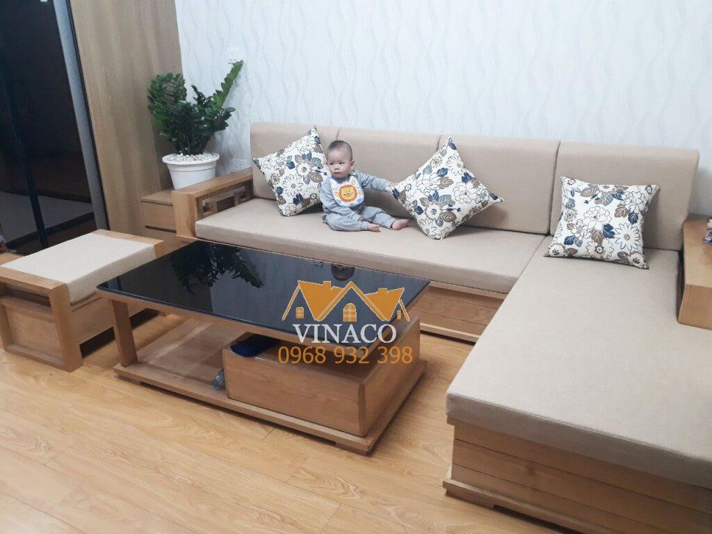 Đệm ghế sofa gỗ L