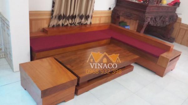 Đệm ghế sofa gỗ L dành cho phong cách hiện đại