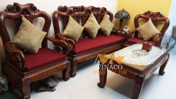 Làm đệm ghế theo kích thước cùng Vinaco
