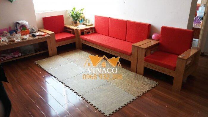 Bộ đệm ghế rực rỡ với tông màu cam đỏ