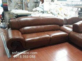 Công trình bọc ghế sofa đã được hoàn thành tại xưởng sản xuất