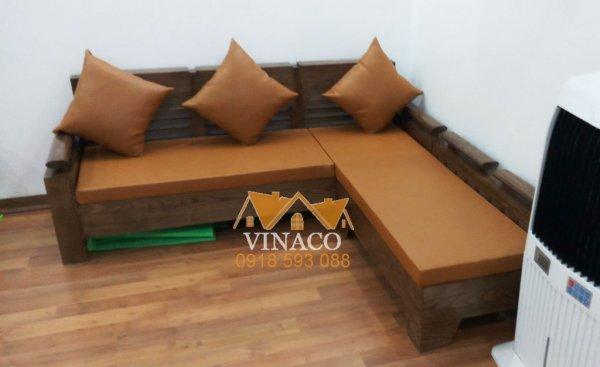 Bộ đệm ghế da đã được Vinaco hoàn thành và giao đến cho gia đình ở Đại Mỗ