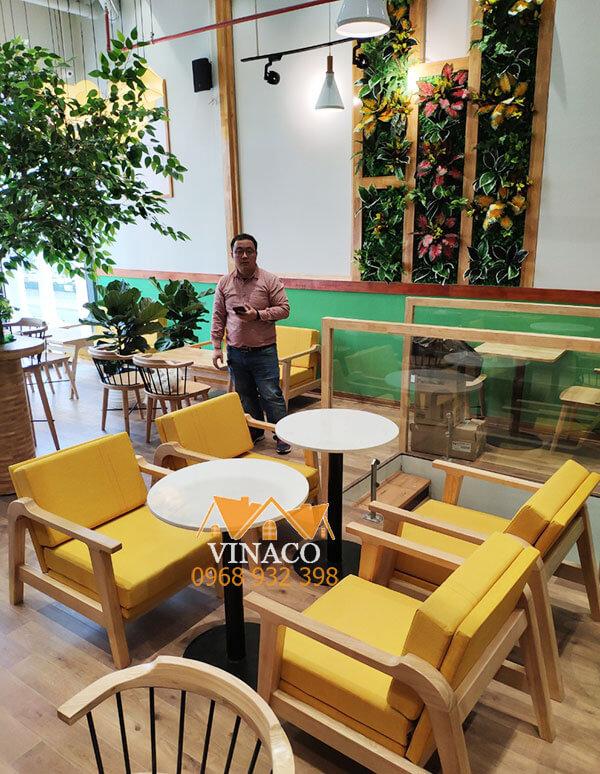 Những tấm đệm ghế đã được chỉnh sửa và thiết kế lại bởi Vinaco