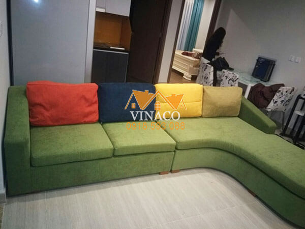 Bộ ghế đã được dịch vụ bọc ghế sofa của Vinaco tân trang lại toàn bộ