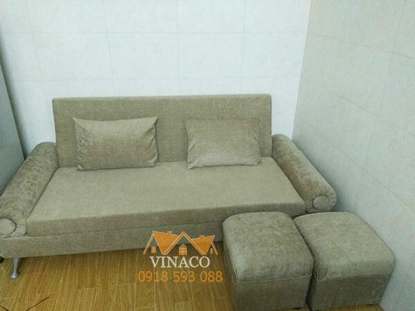 Bọc ghế sofa, thay đệm ghế mới, thay vỏ gối, sửa tay vịn của ghế